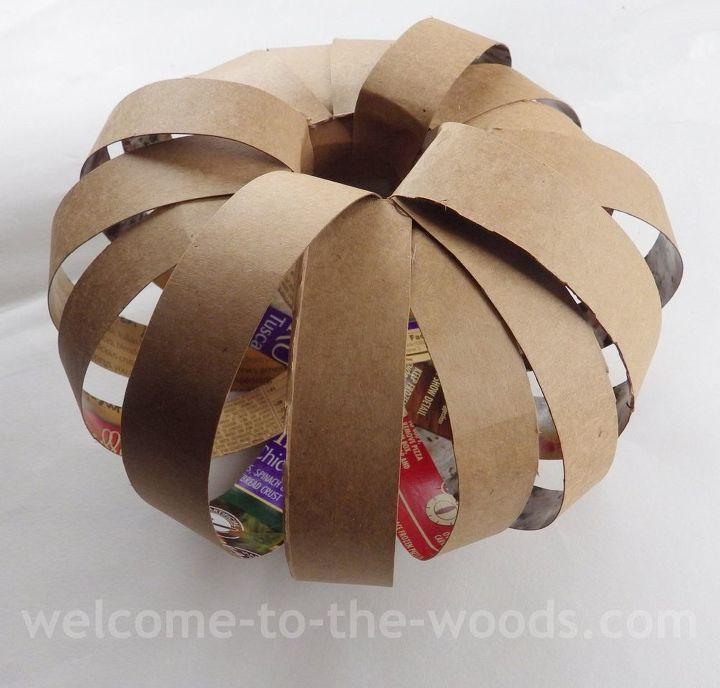 diy cardboard pumpkin craft crafts halloween decorations seasonal holiday decor - Cardboard Halloween Decorations