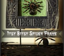 the itsy bitsy spider climbed up the picture frame, crafts, halloween decorations, seasonal holiday decor
