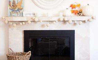 fall nautical mantel garland tutorial, crafts, fireplaces mantels, how to, seasonal holiday decor