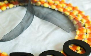 candy corn wreath, crafts, seasonal holiday decor, wreaths