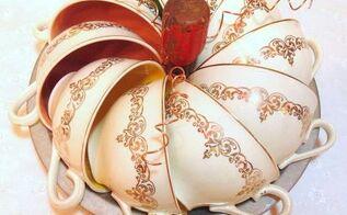 vintage repurposed teacup pumpkin, crafts, repurposing upcycling, seasonal holiday decor