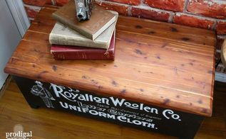 thrifted antique cedar chest meets industrial chic, painted furniture, repurposing upcycling