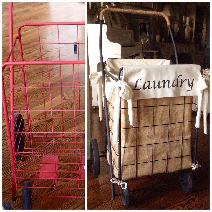 Diy Granny Ping Cart Laundry Hamper Crafts Repurposing Upcycling