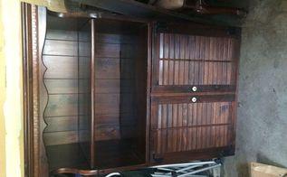 q ethan allen furniture makeover, painted furniture, Ethan Allen Tavern Pine hutch