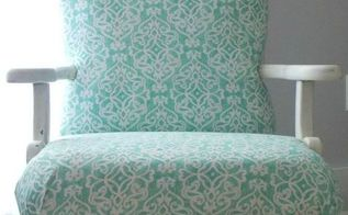 upholstering an antique chair part 2 redressing it, painted furniture, repurposing upcycling, reupholster