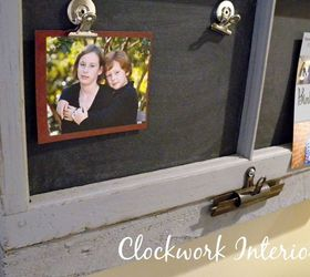 an old window frame into a magnetic chalkboard chalkboard paint crafts repurposing