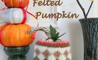repurpose an old sweater into a felted pumpkin, crafts, how to, repurposing upcycling, seasonal holiday decor