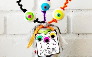 1 2 3 eyes on me halloween mason jar teacher gift and printable, crafts, halloween decorations, mason jars, repurposing upcycling, seasonal holiday decor