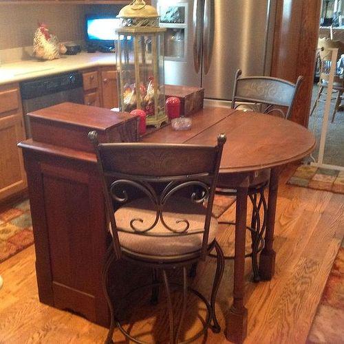 Kitchen Island From Dresser help with dresser turning it into kitchen island | hometalk