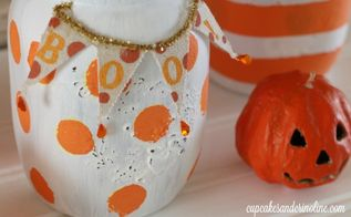 halloween mason jars, halloween decorations, mason jars, repurposing upcycling, seasonal holiday decor