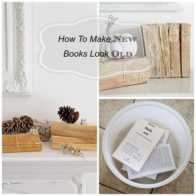 Diy how to make new books look old hometalk for How to make an old book