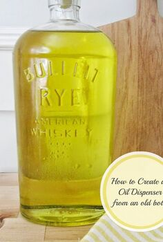 whiskey oil bottle, repurposing upcycling