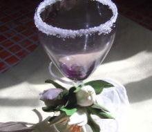 handmade flower decor for a wedding glass, crafts