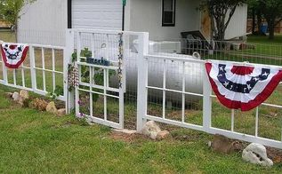 recycled window fence, curb appeal, fences, outdoor living, repurposing upcycling