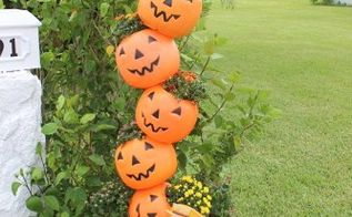 what to do with plastic pumpkins, gardening, halloween decorations, repurposing upcycling, seasonal holiday decor
