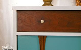 giving a modern style to a mid century chest of drawers, painted furniture