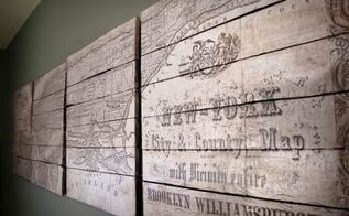 pottery barn inspired new york tiled map diy, crafts, decoupage, diy, home decor, pallet, repurposing upcycling, wall decor