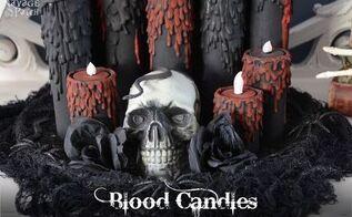 blood candles, crafts, halloween decorations, seasonal holiday decor