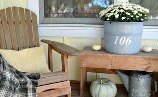 easy decorating ideas for fall porches, porches, seasonal holiday decor