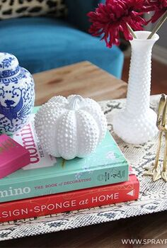 diy hobnail milk glass pumpkin, crafts, seasonal holiday decor