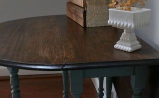 antique gate leg table, painted furniture, repurposing upcycling