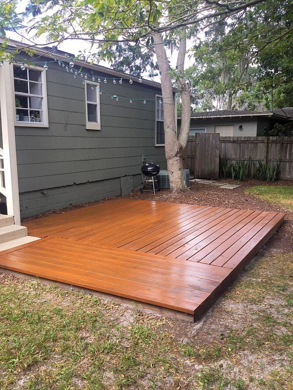 How to stain your deck in less than an hour hometalk for Diy small deck