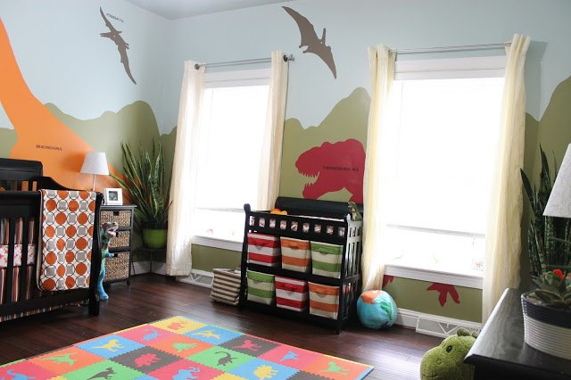Diy dinosaur themed nursery hometalk for Home decor 77429