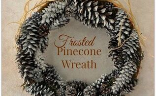 frosted pinecone wreath, crafts, seasonal holiday decor, wreaths