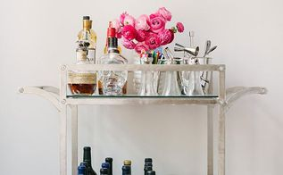 how to style a bar cart, home decor, how to