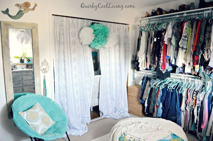 Spare bedroom turned dressing room on a budget hometalk for Bed dressing ideas