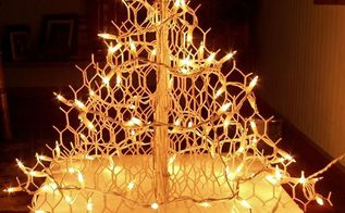 too fancy for chickens wire christmas tree, christmas decorations, crafts, repurposing upcycling