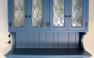 updated hutch from boring to beautiful, painted furniture