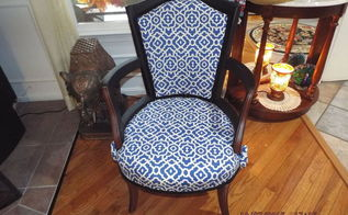 broken down slipper chair, painted furniture, reupholster