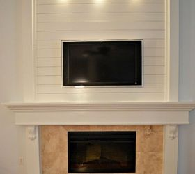 How to Shiplap a Fireplace or a Wall | Hometalk