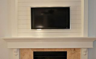 how to shiplap a fireplace or a wall, diy, fireplaces mantels, how to, living room ideas, wall decor