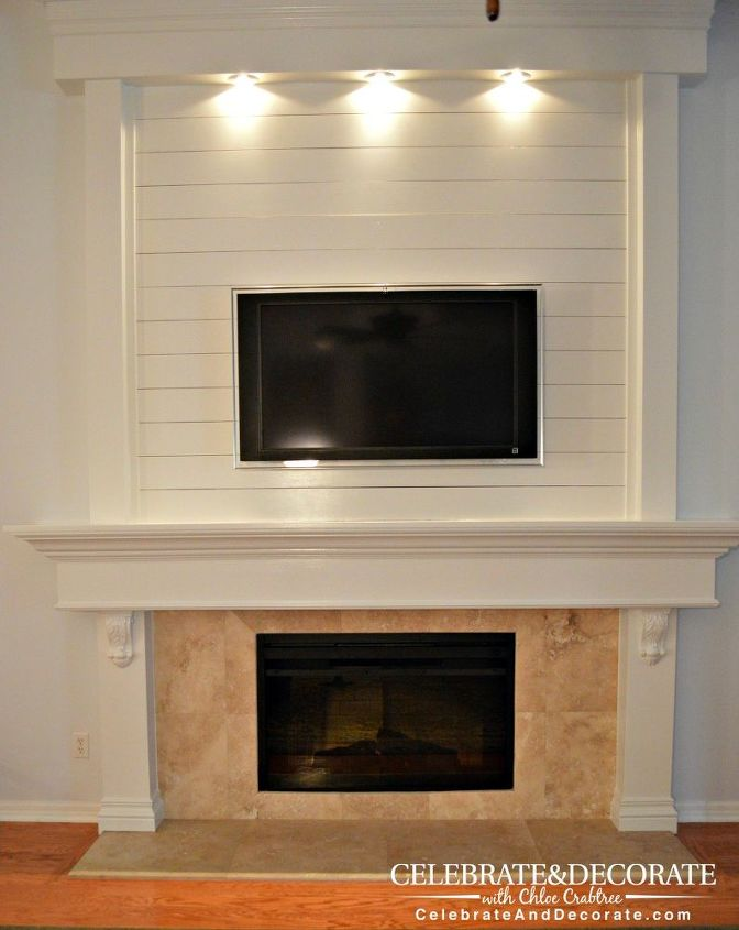 Fireplace Design a fireplace : How to Shiplap a Fireplace or a Wall | Hometalk
