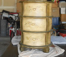 q can anyone tell me something about this unusual chest table, home decor id, painted furniture, repurposing upcycling