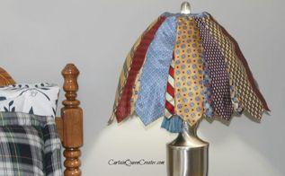 diy necktie lamp shade, bedroom ideas, home decor, lighting, repurposing upcycling