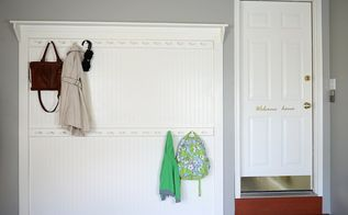 diy beadboard shaker peg coat rack, diy, foyer, wall decor, woodworking projects