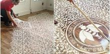 10 stenciled floor makeovers made for walkin, flooring, painting