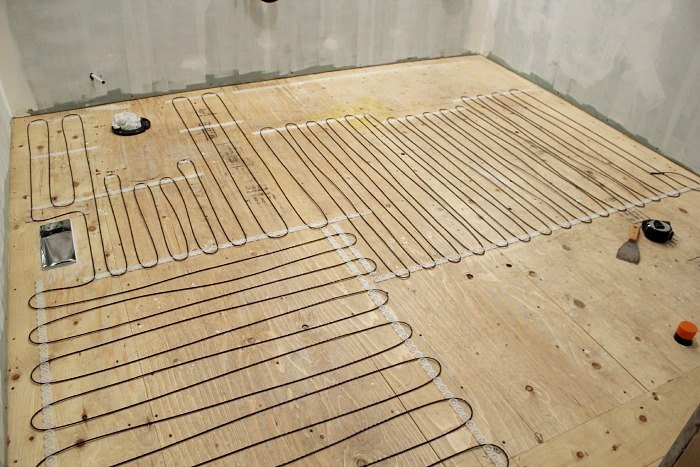 how to install heated tile flooring and also how not to flooring how to - Heated Bathroom Floor Cost