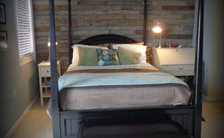 warm and rustic pallet wood wall diy, bedroom ideas, diy, home decor, pallet, repurposing upcycling, wall decor