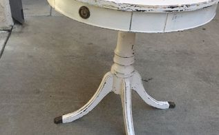side table salvage and refurbish, painted furniture