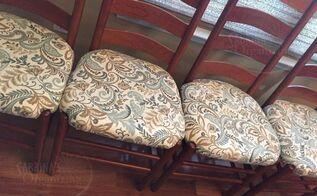 diy dining room chair repair tips, painted furniture, repurposing upcycling, reupholster