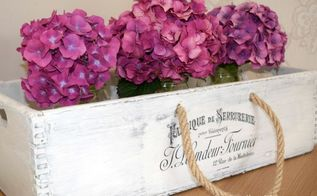french inspired box makeover, crafts, repurposing upcycling
