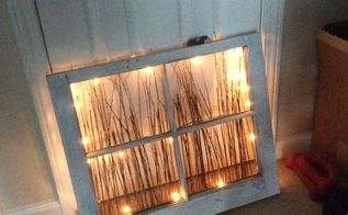 repurposed window nightlight, lighting, repurposing upcycling