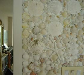 Shells And Pebbles Brighten Up A Bathroom, Bathroom Ideas, Wall Decor, Shell  Overload