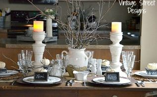 creating a fall tablescape, chalkboard paint, crafts, dining room ideas, seasonal holiday decor, thanksgiving decorations