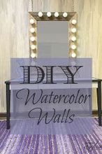 diy watercolor walls, diy, painted furniture, painting, wall decor