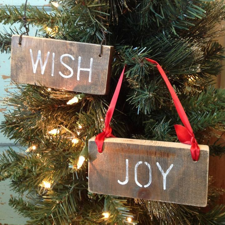 Rustic Wood Scrap Ornaments